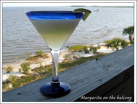 A Margarita on the balcony.